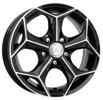 Колесный диск Кик Кристалл 6x15/5x112 D67.1 ET40 алмаз черный