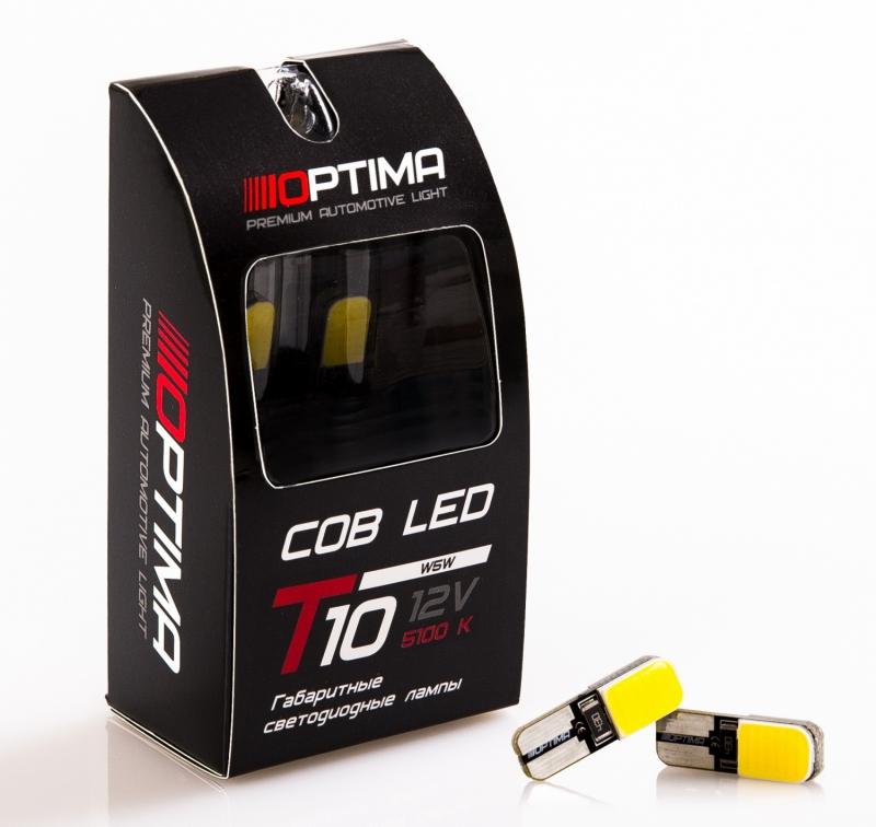 Лампа светодиодная габаритная Optima Premium COB 4200k, 3 Вт, T10, OPW5WCOB4K
