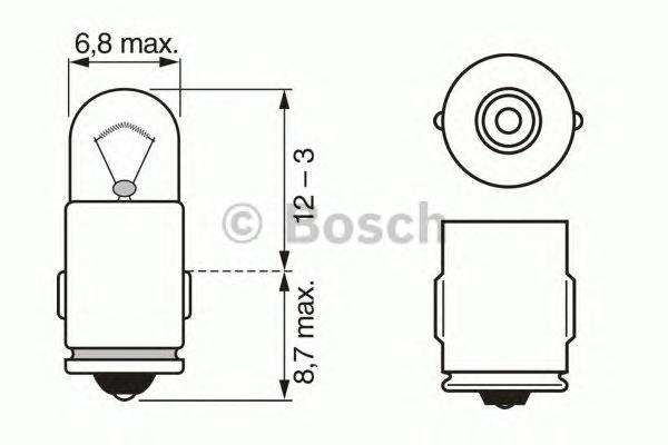 Лампа Trucklight, 24 В, 3 Вт, BA7s, BOSCH, 1 987 302 519