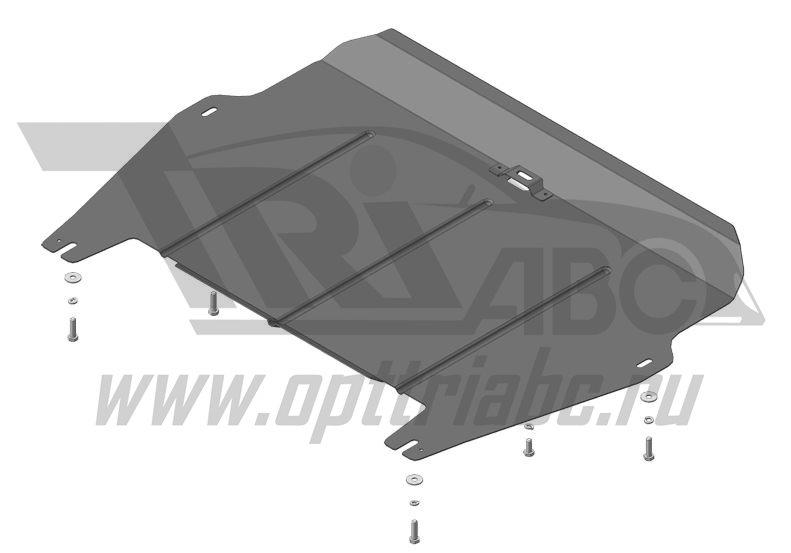 Защита картера двигателя, КПП Haval H6 2015-н.в.V=1,5i АКПП(сталь 2 мм), MOTODOR63104