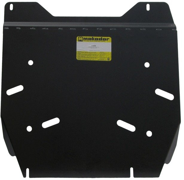 Защита картера двигателя, КПП, РК Nissan Navara III (D40) 2005- V= все (сталь 3 мм), MOTODOR11409