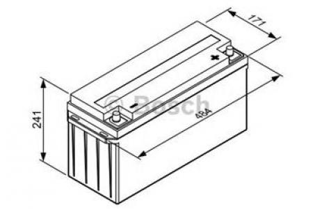 Аккумуляторная батарея Bosch L6, 12 В, 150 А/ч, 825 А, 0092L60050