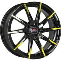 Колесный диск Yokatta MODEL-32 7x17/5x112 D56.6 ET43 черный+желтый (BK+Y)