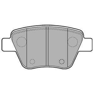 Колодки дисковые, DELPHI, LP2178