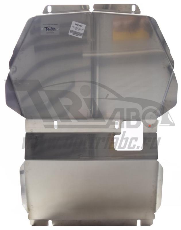 Защита картера Ford Ranger V-2,2TD;(2012-) (Алюминий 4 мм), 0807ABC