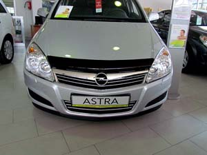 Дефлектор капота Opel Astra (Опель Астра) (2004-2009) (темный), SOPAST0412