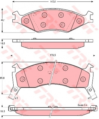 Колодки дисковые Передние, TRW, GDB3123