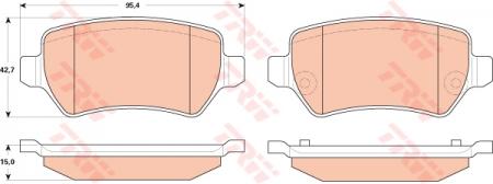 Колодки дисковые Задние, TRW, GDB1831