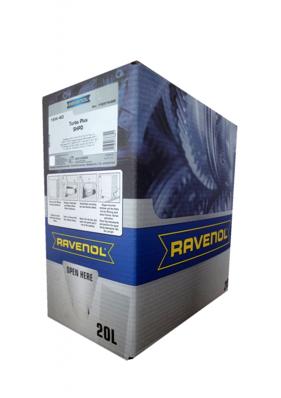 Моторное масло RAVENOL Turbo plus SHPD, 15W-40, 20л, 4014835776821