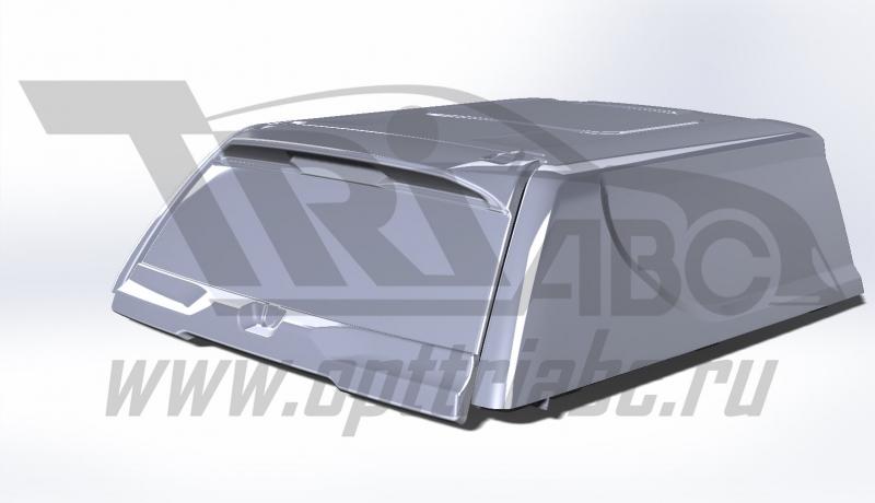 Крыша (кунг) кузова для Toyota Hilux (двойная кабина) (08.2015-) (чёрная) (1 дверь) Cargo АВС-Дизайн