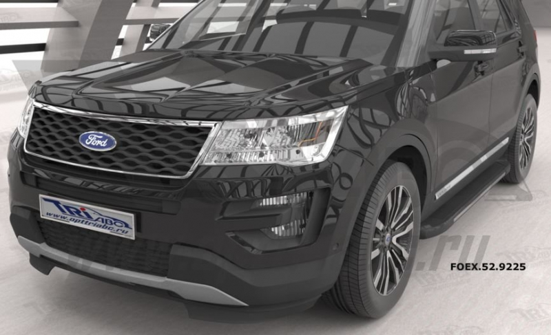 Пороги алюминиевые (Onyx) Ford Explorer (2011-), FOEX529225