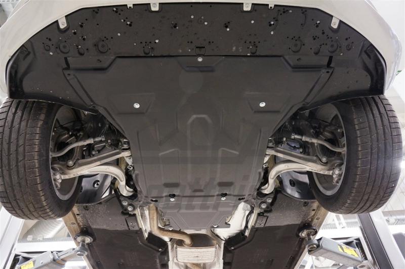 Защита картера двигателя и кпп Audi (Ауди) A4 (2016-) V-1,4T;2,0T (Композит 6 мм), 0210K