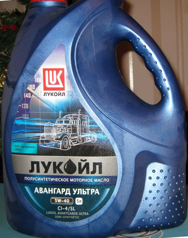 Моторное масло LUKOIL Авангард Ультра, 5W-40, 5л, 19511