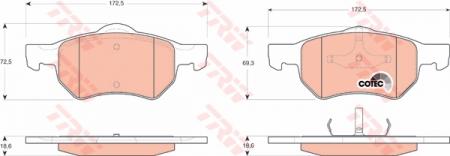Колодки дисковые Передние, TRW, GDB4128