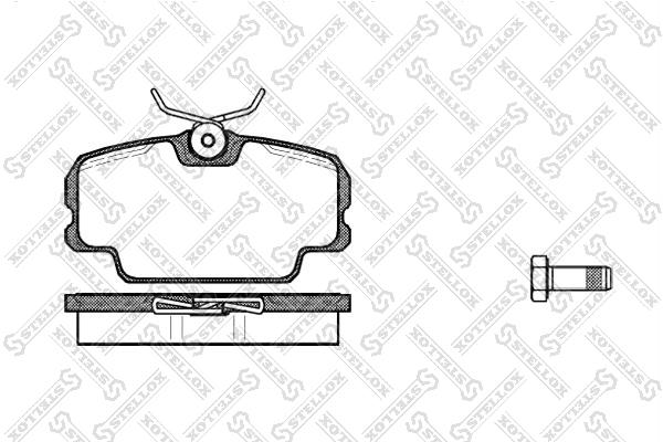 Колодки дисковые, STELLOX, 156010SX