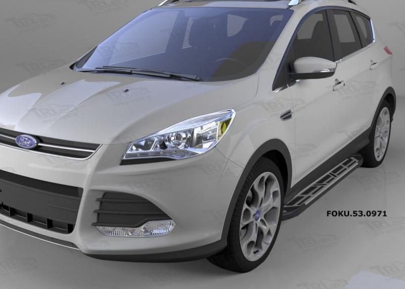 Пороги алюминиевые (Corund Silver) Ford Kuga (2013-), FOKU530971