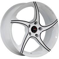 Колесный диск Yokatta MODEL-2 6.5x16/5x105 D56.6 ET39 белый +черный (W+B)