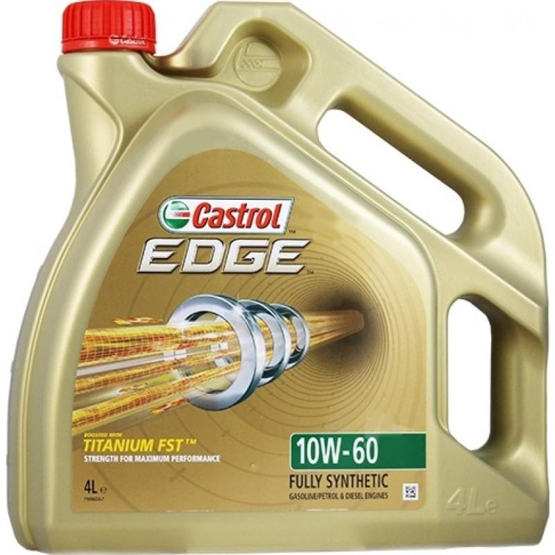 Моторное масло CASTROL EDGE Titanium FST, 10W-60, 4л, 4637380090