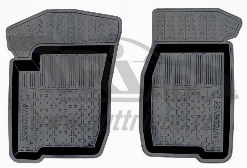 Коврики салона резиновые с бортиком для Chevrolet NIVА (2002-) (2 передних), ADRJET0102