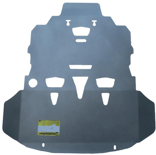 Защита картера двигателя, КПП Audi A6 (4F,C6) 2004-2011 V=2,0T,3,0,3,2,3,0TD (алюминий 5 мм), MOTODO