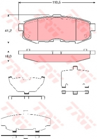 Колодки дисковые Задние, TRW, GDB3406