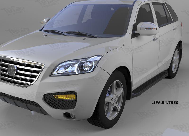 Пороги алюминиевые (Sapphire Black) Lifan X60 (2011-), LIFA547550
