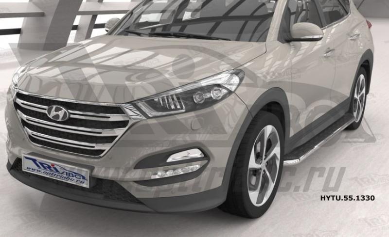 Пороги алюминиевые (Ring) Hyundai Tucson (2015-) / Kia Sportage (2016-), HYTU551330
