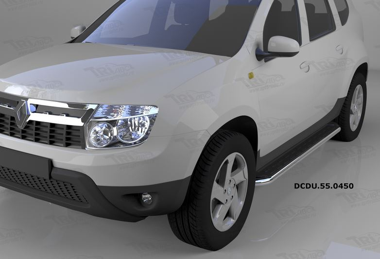 Пороги алюминиевые (Ring) Renault Duster (Рено Дастер) (2012-) / Nissan Terrano (2014-), DCDU550450