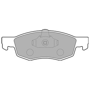 Колодки дисковые, DELPHI, LP1796