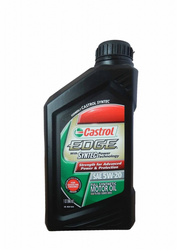 Моторное масло CASTROL EDGE With Syntec Power Technology, 5W-20, 0.946л, 06247