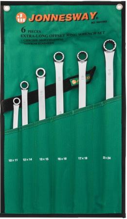 W61106S Набор ключей накидных удлиненных 10-24 мм, 6 предметов
