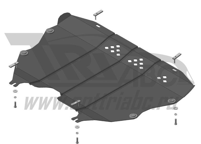 Защита картера двигателя, КПП; Ford Mondeo; передний; V=2,5; с 2015 г.в., MOTODOR00755