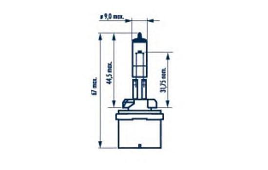 Лампа NARVA, 12 В, 27 Вт, PG13, 48041