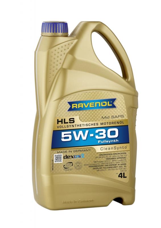 Моторное масло RAVENOL HLS, 5W-30, 4л, 4014835723092
