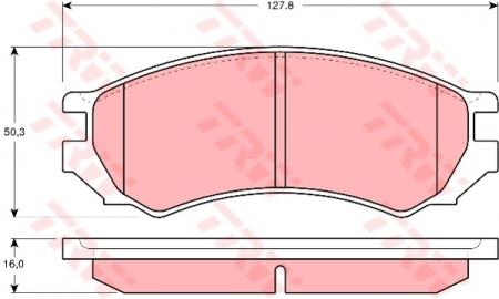 Колодки дисковые Передние, TRW, GDB1005