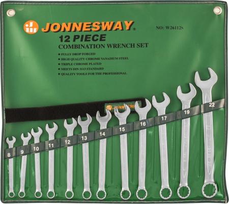 W26112S Набор ключей комбинированных 8-22 мм, 12 предметов