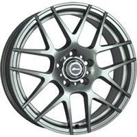 Колесный диск X-Race AF-02 6.5x16/4x100 D63.3 ET52 темно-серый с белой полосой по ободу внутри (GMWS