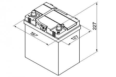 Аккумуляторная батарея Bosch S4 Silver, 12 В, 40 А/ч, 330 А, 0092S40180
