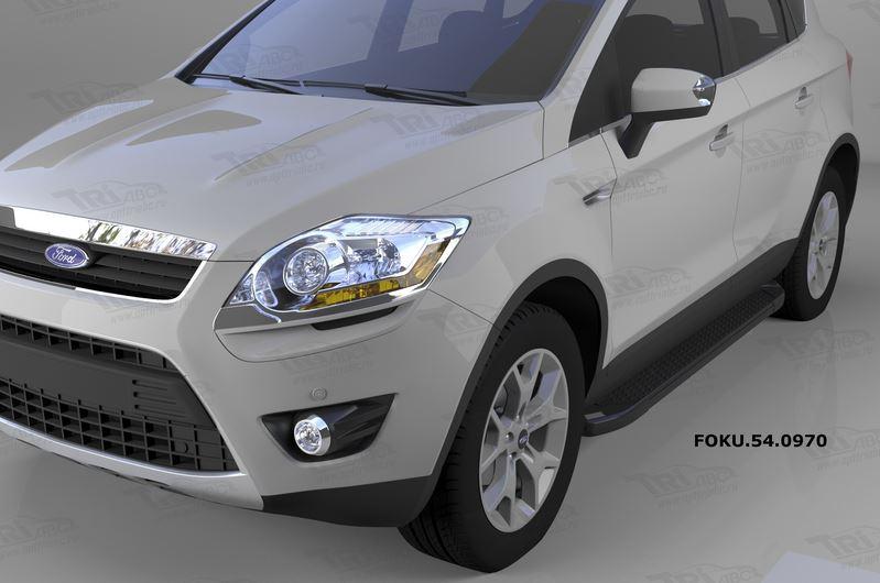Пороги алюминиевые (Sapphire Black) Ford Kuga (2008-2013), FOKU540970