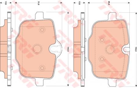 Колодки дисковые Задние, TRW, GDB1869