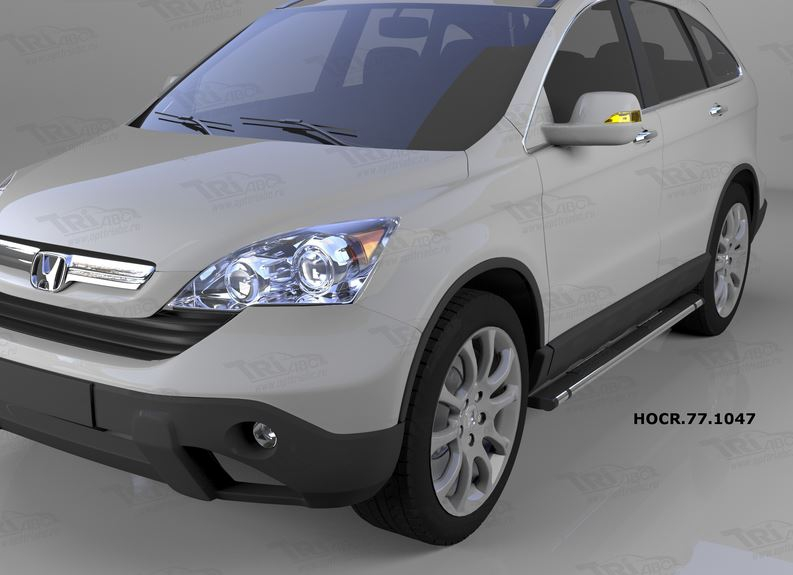 Пороги алюминиевые (Emerald Black) Honda (Хонда) CR-V (2007-2012), HOCR771047