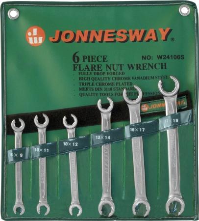 W24106S Набор ключей разрезных 8-19 мм, 6 предметов