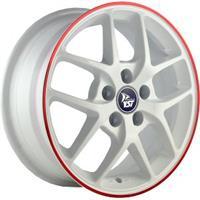 Колесный диск YST X-8 5.5x14/4x100 D56.6 ET40 белый с красной полосой по ободу (WRS)