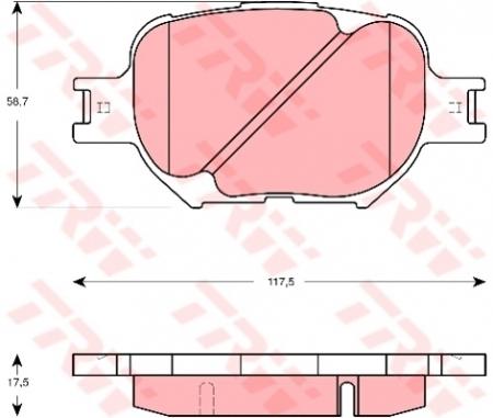 Колодки дисковые Передние, TRW, GDB3316