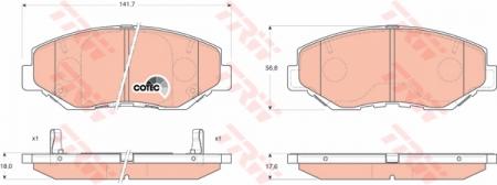 Колодки дисковые Передние, TRW, GDB3325