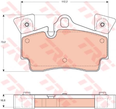Колодки дисковые Задние, TRW, GDB1652