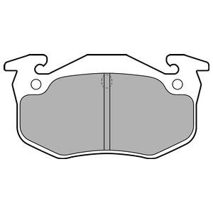Колодки дисковые, DELPHI, LP699