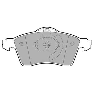 Колодки дисковые, DELPHI, LP1092