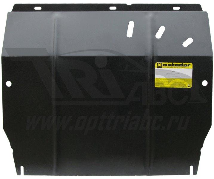Защита картера двигателя, КПП, РК Hyundai Santa Fe I 2000-2006 V= все (сталь 2 мм), MOTODOR60908