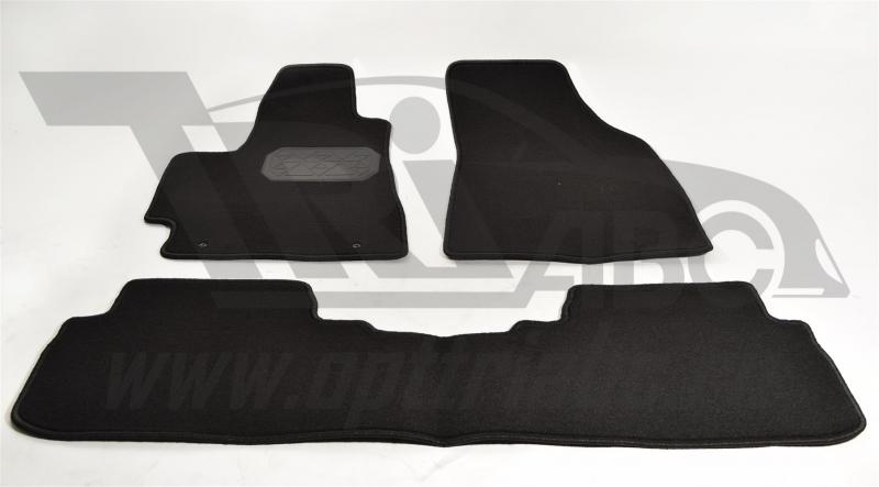 Коврики салона текстильные Toyota Highlander (Тойота Хайлендер) (2010-2013) (Велюр, полиамид)(подпят